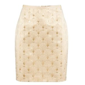 H&M | gold pencil skirt